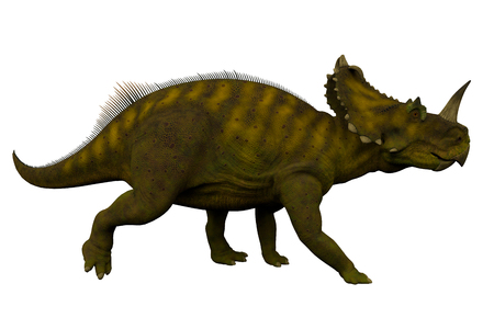 behemoth: Centrosaurus Side Profile - Centrosaurus was a herbivorous ceratopsian dinosaur that lived in Canada during the Cretaceous Period.