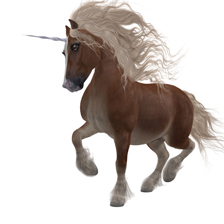 horsepower: Shetland Unicorn - A fantasy animal that is a cross of the Shetland pony and the Unicorn of folklore and legend. Stock Photo