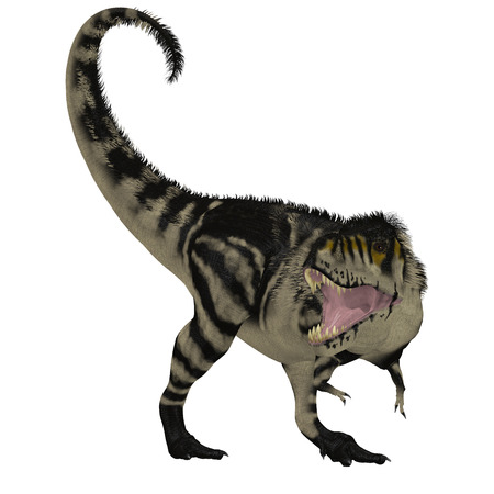 cretaceous: Black White T-Rex Dinosaur - Tyrannosaurus Rex was a carnivorous dinosaur that lived in the Cretaceous Period of North America.