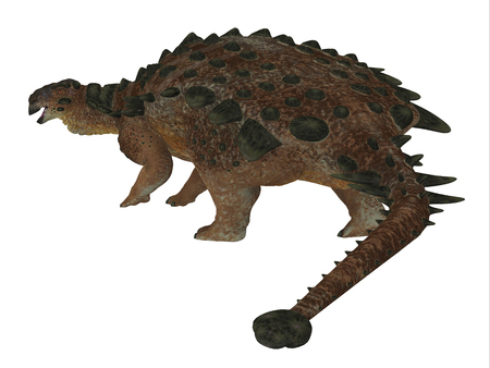 species plate: Pinacosaurus Dinosaur Tail - Pinacosaurus was a herbivorous ankylosaur that lived in the Cretaceous Period of Mongolia and China.