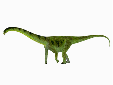 Puertasaurus Dinosaur Side View - Puertasaurus was a herbivorous sauropod dinosaur that lived in Patagonia in the Cretaceous Period.