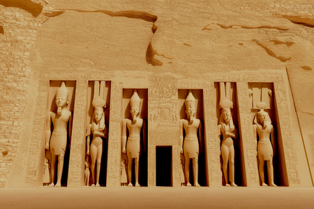 Temple of Nefertiti - Nefertiti also known as Great Royal Wife was an Egyptian queen and married to Akhenaten. Stock fotó