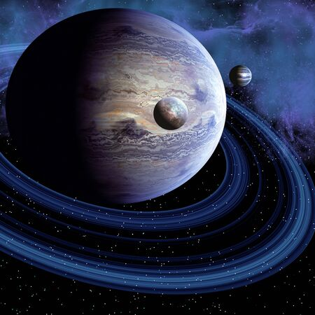 habitable: Unknown Planet - There may be an unknown planet in our solar system or there may be a habitable planet out in the cosmos. Stock Photo
