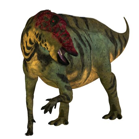 lived: Shuangmiaosaurus Dinosaur on White - Shuangmiaosaurus was a herbivorous iguanodont dinosaur that lived in China in the Cretaceous Period. Stock Photo