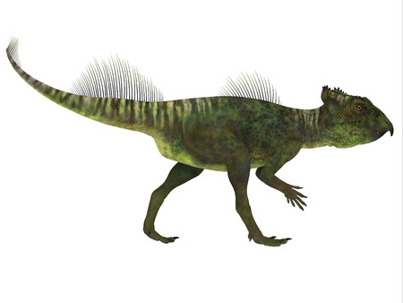 frill: Archaeoceratops Dinosaur Side Profile - Archaeoceratops was a Ceratopsian herbivorous dinosaur that lived in China in the Cretaceous Period.
