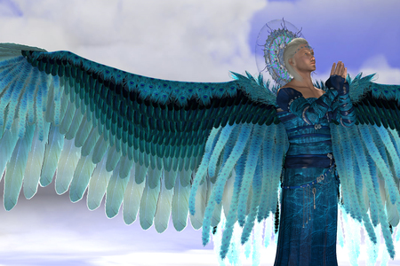 angel 3d: Angel Michael - Archangel Michael is a messenger sent by God to speak to people on Earth and leads Gods armies against the forces of evil.
