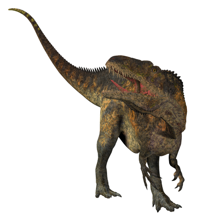 was: Acrocanthosaurus Dinosaur Tail - Acrocanthosaurus was a carnivorous theropod dinosaur that lived in North America in the Cretaceous Period.