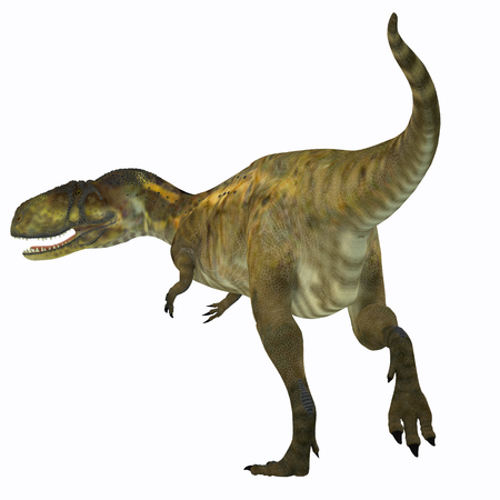 lived: Abelisaurus Dinosaur Tail - Abelisaurus was a carnivorous theropod dinosaur that lived in Argentina in the Cretaceous Period.