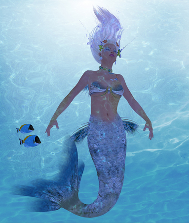 sprite: Mermaid Nadja - A mermaid is a fantasy creature from folklore and myth that has a fish tail and a womans upper body.