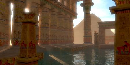 エジプトの象形文字は、壁やアーチ、このエジプト大ピラミッド近く学会高原バスの柱を飾る。