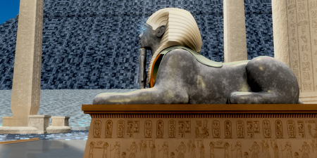 Egyptian Sphinx Statue - An Egyptian sphinx statue is one of the guardians to pharaohs tomb in ancient Egypt.