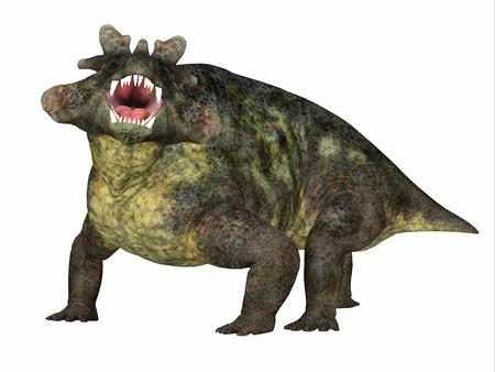 Estemmenosuchus mirabilis Dinosaur Side Profile - Estemmenosuchus mirabilis was an omnivorous therapsid dinosaur that lived in the Permian Period of Russia.