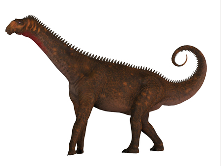 Mierasaurus was a herbivorous sauropod dinosaur that lived in Utah, USA during the Cretaceous Period. Stock Photo