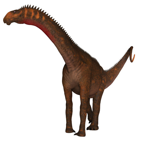 Mierasaurus was a herbivorous sauropod dinosaur that lived in Utah, USA during the Cretaceous Period. Фото со стока