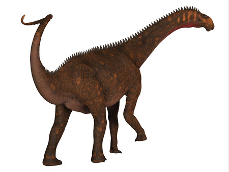 Mierasaurus was a herbivorous sauropod dinosaur that lived in Utah, USA during the Cretaceous Period. Stock Photo - 105257245