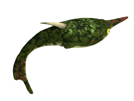 Pteraspis Fish Side Profile - Pteraspis was a primitive jawless fish that lived in the oceans of the Devonian Period.
