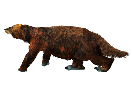 Megatherium Sloth Walking - Megatherium was a herbivorous Giant Ground Sloth that lived in Central and South America during the Pliocene and Pleistocene Periods.