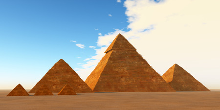 The Great Pyramids - A world wonder the Great Pyramids have stood for 4000 years on the Giza Plateau in Egypt. Stok Fotoğraf