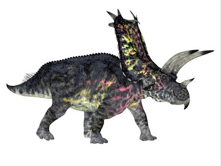 Pentaceratops Dinosaur Side Profile - Pentaceratops was a herbivorous Ceratopsian dinosaur that lived during the Cretaceous Period of North America.