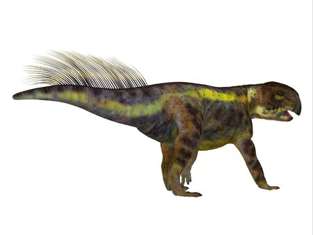 Psittacosaurus was a herbivore Ceratopsian dinosaur that lived in Asia during the Cretaceous Period. Фото со стока