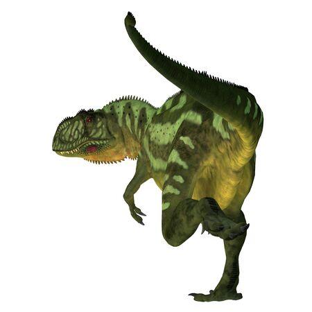 Yangchuanosaurus Dinosaur Tail - Yangchuanosaurus was a carnivorous theropod dinosaur that lived in China during the Jurassic Period. Stockfoto