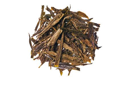 Its Japan tea sencha green sprinkled around
