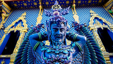 Blue angel in northern Thailand temple
