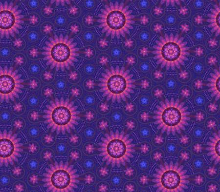 complex: complex blue-violet floral pattern