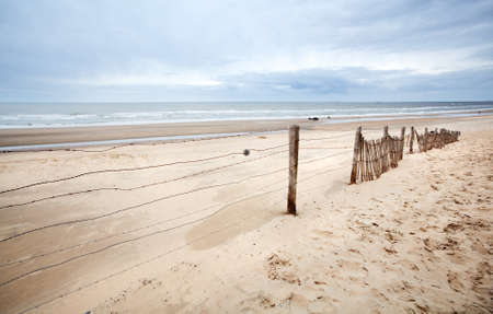sandy creamy  beach on North sea cast Stock Photo - 13215023