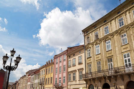 lemberg: Rynok  Market  Square in city center of Lviv  Lemberg  Stock Photo