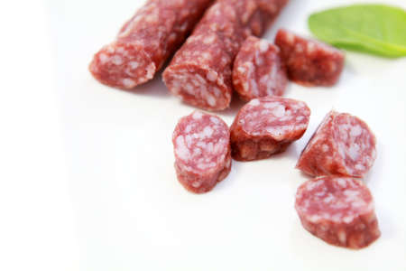 groningen: traditional dry Dutch sausage produced in Groningen - droog worst