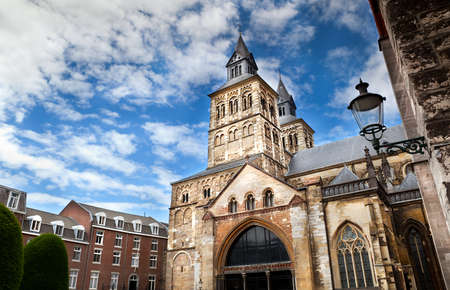 The Roman catholic Basilica of Saint Servatius, situated in Maastricht  the Netherlands  at the Vrijthof square, is a mainly Romanesque church dedicated to Saint Servatius Banco de Imagens - 14072058