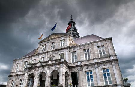 City Hall building in Maastricht, Netherlands Banco de Imagens
