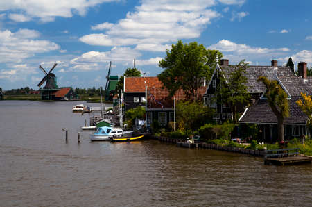 small traditional Dutch town Zaanse Schans photo