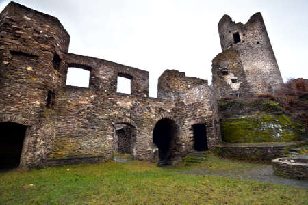 castle conditioning: ruins of old castle close to Cochem