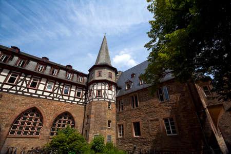 alte charmante Architektur in Marburg, Deutschland Lizenzfreie Bilder