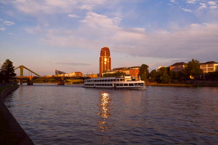 view on Main river in Frankfurt before sunset Stock Photo - 14726722