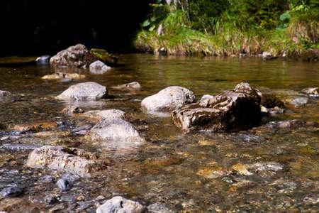 streamlet: alpine transparent streamlet with many stones