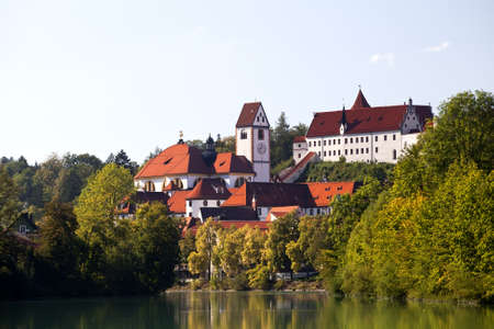 charming Hohes schloss Fussen and St. Mang church, Germany
