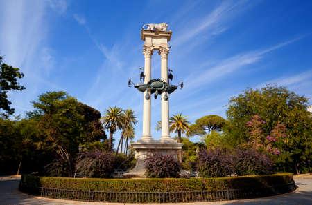 murillo: Sevilla, Jard shy de Murillo, Monumento a Coln - Columbus monument