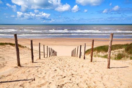 path to sandy beach by North sea in Zandvoort aan Zee