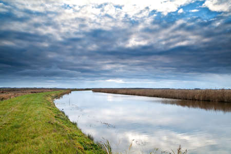 beautiful cloudscape over river Stock Photo - 17379259