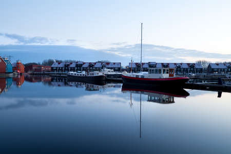 boats on water at marina, Reitdiephaven in Groningen Stock Photo - 17424343