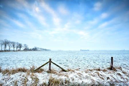 typical Dutch farmland in winter, Groningen Stock Photo - 18122201