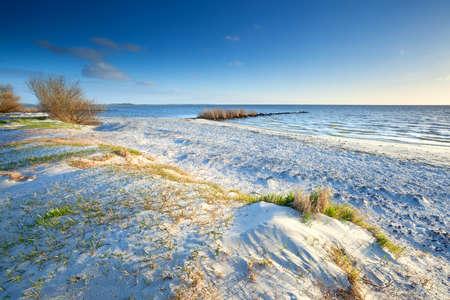 sunny sand beach by North sea and blue sky Stock Photo - 19457797