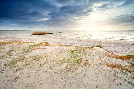 ijsselmeer: sand coast by Ijsselmeer, Hindeloopen, the Netherlands