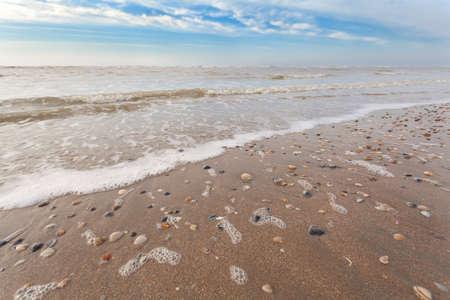 north holland: sand beach on North sea, Zandvoort aan Zee, North Holland Stock Photo