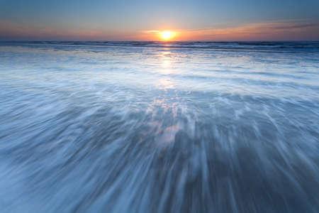 north holland: North sea waves at sunset, North Holland, Netherlands