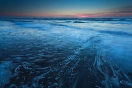 north holland: North sea in dusk, North Holland, Netherlands