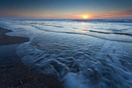 north holland: sunset over North sea, Zandvoort aan Zee, North Holland